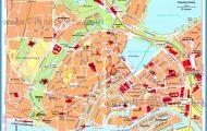 Hamburg Central Area Map - Tourist Attractions