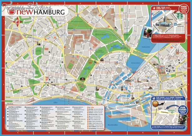 Hamburg Map Tourist Attractions1jpg TravelsFindersCom