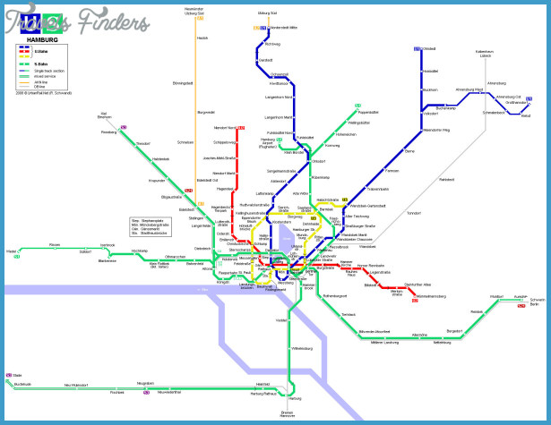 Hamburg Subway Map.Hamburg Subway Map Travelsfinders Com