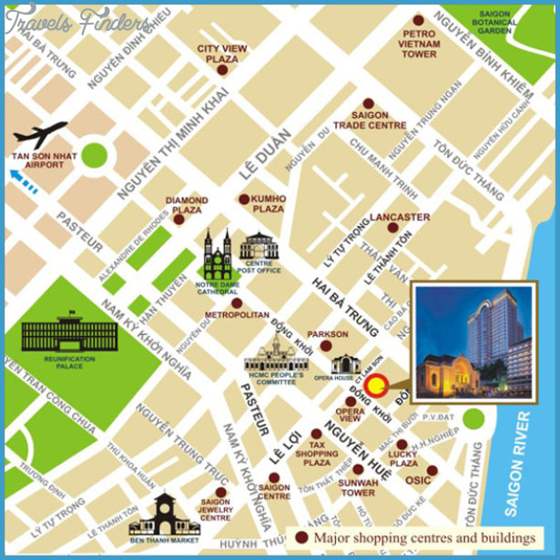 Ho Chi Minh City Map TravelsFindersCom