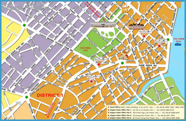 Ho Chi Minh City Map Tourist Attractions - TravelsFinders.Com ®