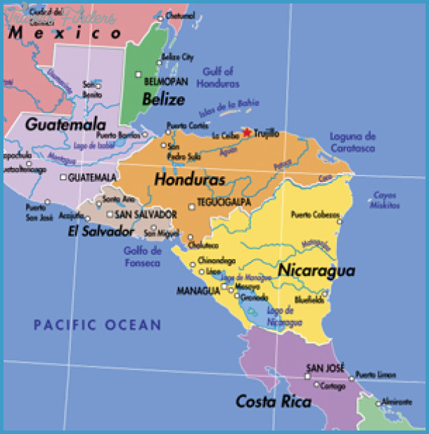 Honduras Map Travel Map Vacations TravelsFindersCom - Hondurus map