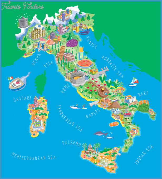 map of Italy in English | Tourist map of Italy | Road map of Italy ...