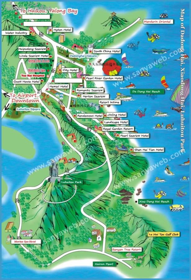 Sanya Dadonghai Map, Map of Dadonghai Sanya, Sanya Dadong sea map, Map