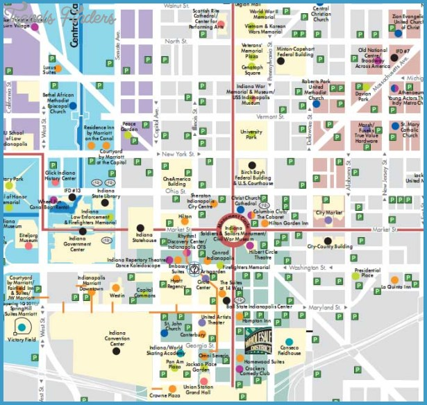 Indianapolis Map Tourist Attractions – Indianapolis Tourist Attractions Map