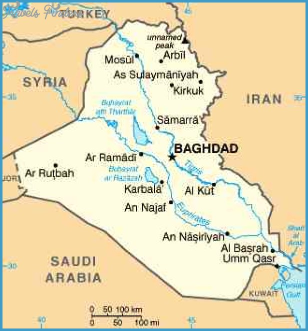 Baghdad Map TravelsFindersCom
