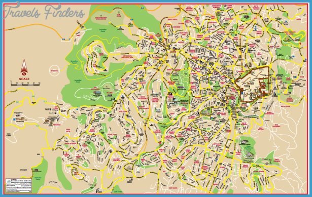 Israel Map Tourist Attractions – Tourist Map of Israel