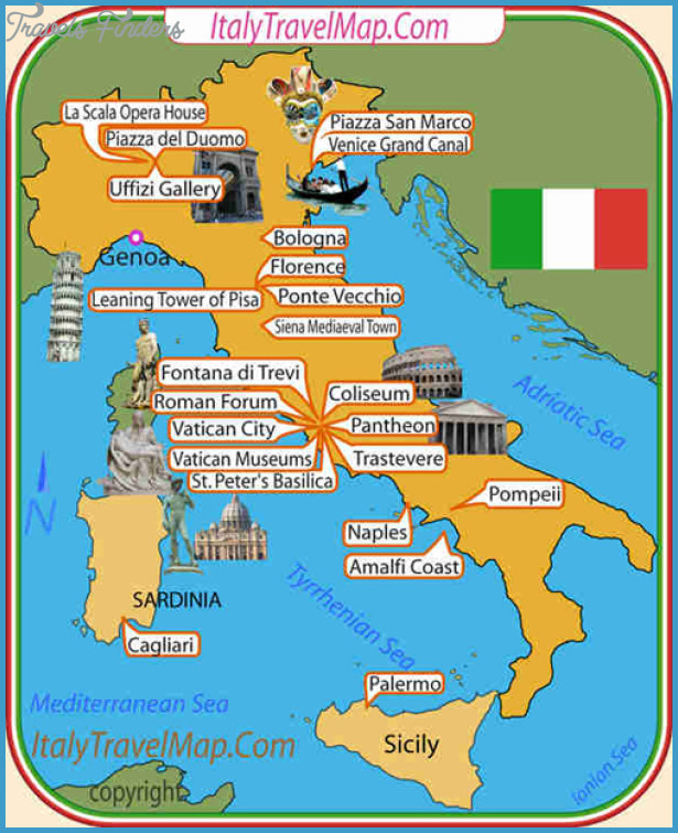 Italy Map Tourist Attractions – Northern Italy Map Tourist