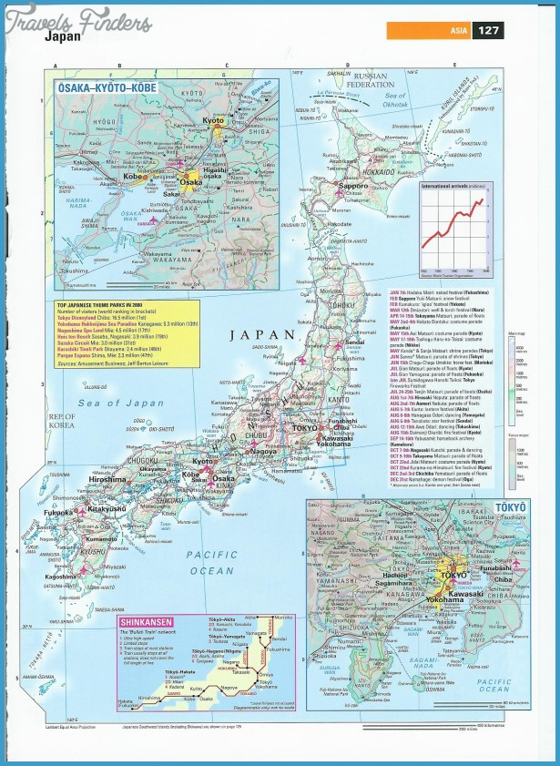 Japan Map Tourist Attractions Travel Map Vacations - Japan map jpg