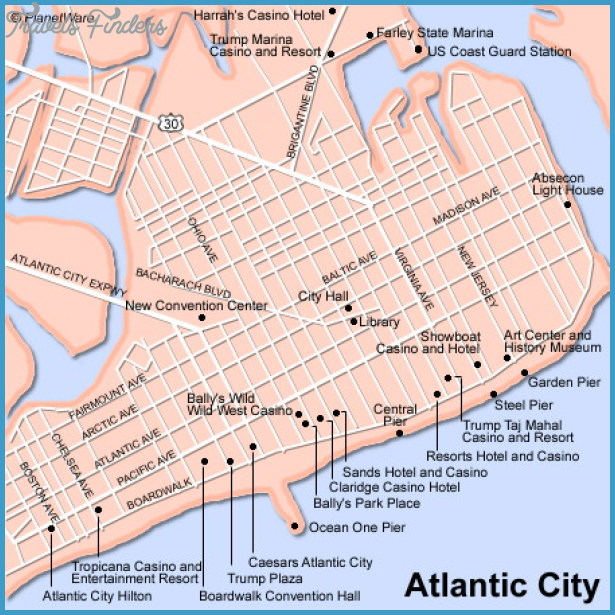 Jersey City Map Tourist Attractions Travel Map Vacations TravelsFinde