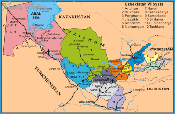 Uzbekistan Map TravelsFindersCom