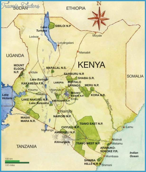 Kenya Map Tourist Attractions – Kenya Tourist Attractions Map