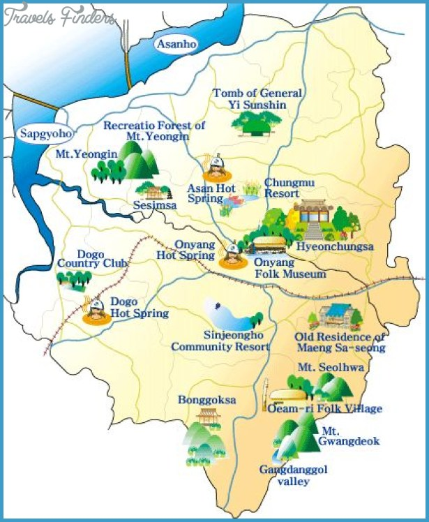 Korea South Map Tourist Attractions TravelsFindersCom