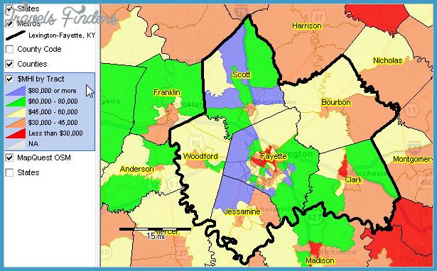 Lexington-Fayette, KY MSA Population Demographic Economic Change
