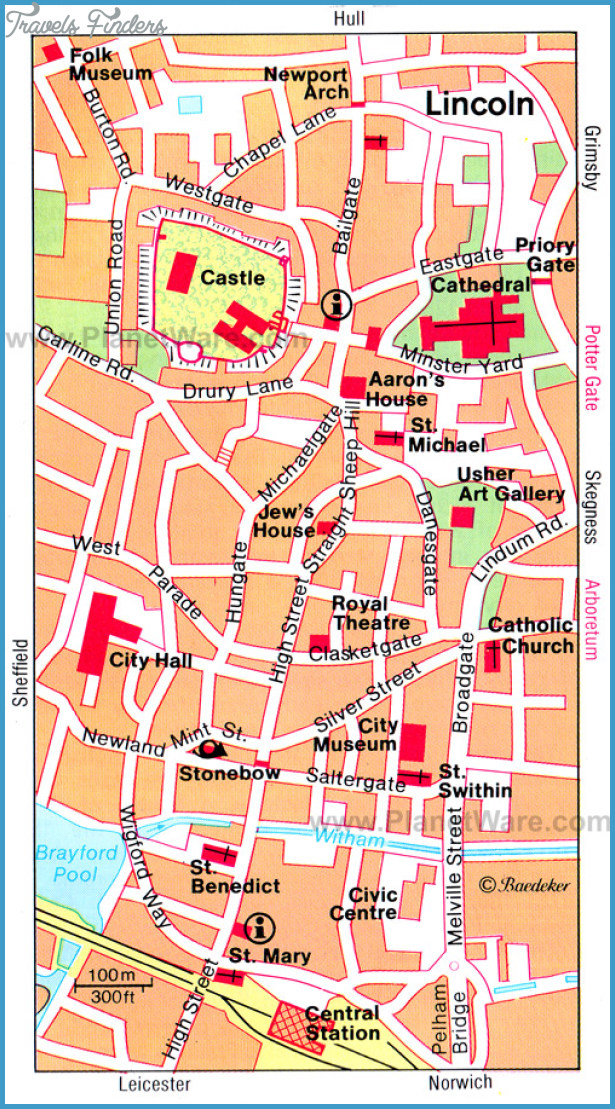 Lincoln Map - Tourist Attractions