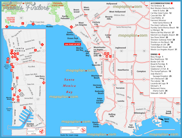 Long Beach Map Tourist Attractions TravelsFindersCom