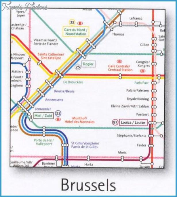 Belgium Metro Map Travelsfinders Com