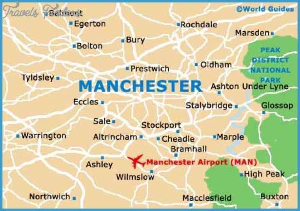 Maps of Manchester, University of Manchester: Map of Manchester ...