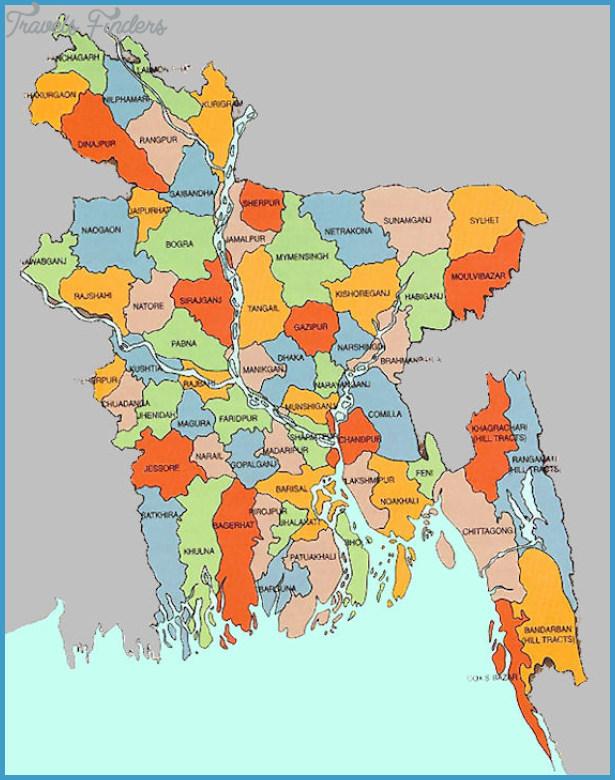 Bangladesh Map TravelsFindersCom - Bangladesh map