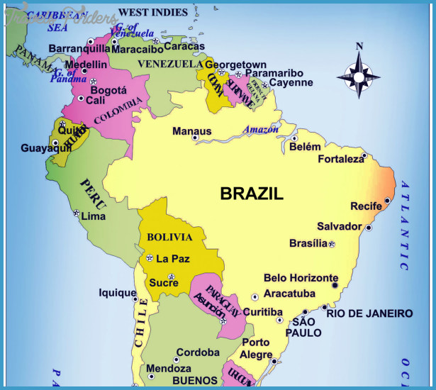 Brazil Map Travel Map Vacations TravelsFindersCom - Manaus map