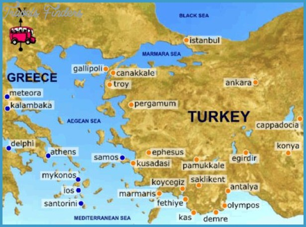 Turkey Map Tourist Attractions TravelsFindersCom