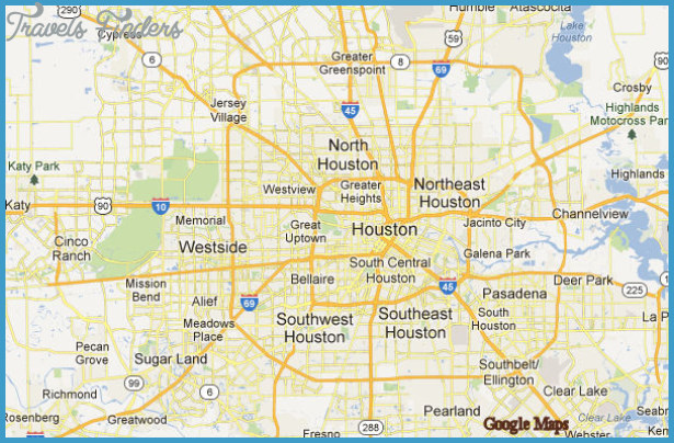 Houston Map - TravelsFinders.Com ®