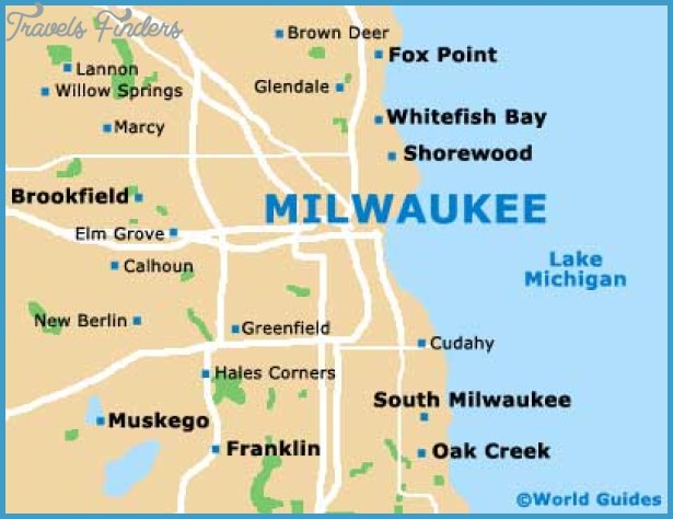Milwaukee Map Tourist Attractions Travel Map Vacations