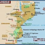 Map of Mozambique, with Inhambane on the southern coast.