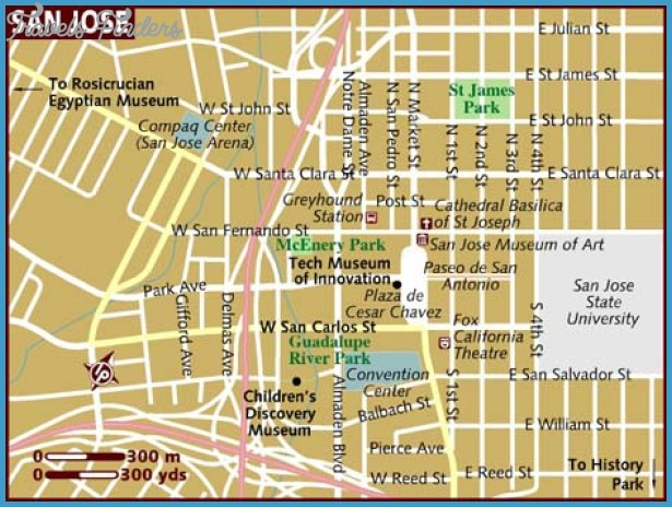 San Jose Map Tourist Attractions TravelsFindersCom