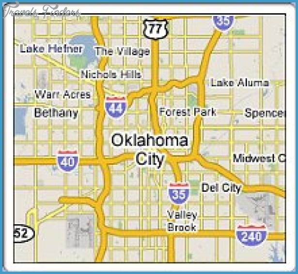 Oklahoma City Metro Map  Travel  Map  Vacations