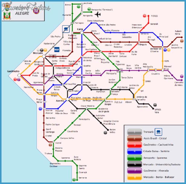 Brasilia Metro Map TravelsFindersCom