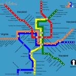 Metrorail: Washington metro map, United States