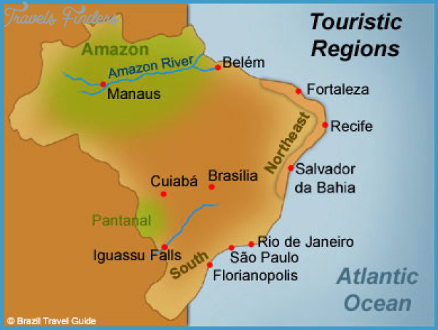 Fortaleza Map Tourist Attractions TravelsFindersCom