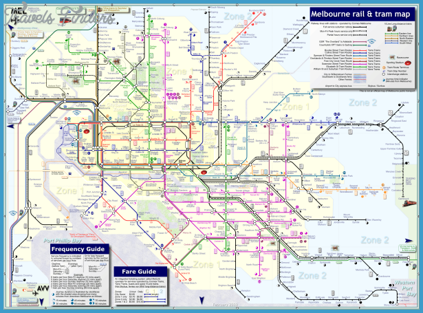 metro map of melbourne melbourne australia australia and oceania