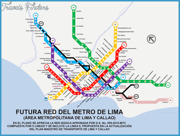 Peru Metro Map Travel Map Vacations TravelsFindersCom - Peru map lima