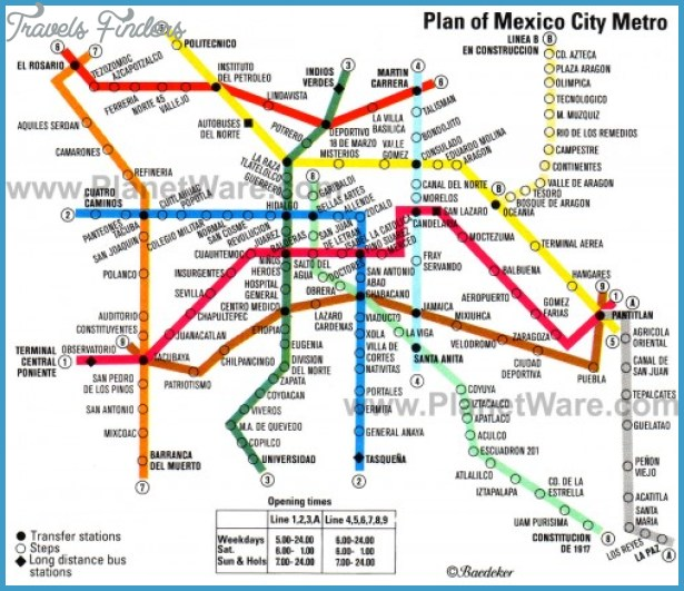 Subway Map Mexico City.Mexico City Subway Map Travelsfinders Com