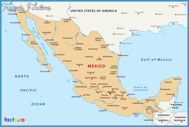 Mexico City Map TravelsFindersCom