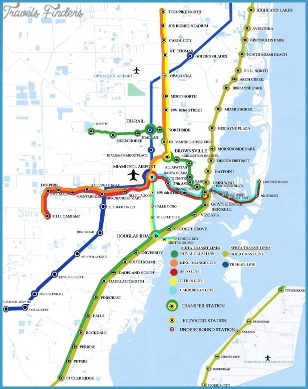 miami metro map - travelsfinders