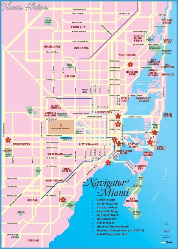 Miami Map Tourist Attractions – Miami Tourist Attractions Map