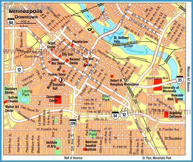 Minneapolis Map | TravelsFinders.Com ®