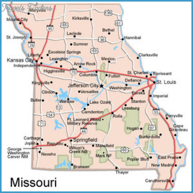 St Louis Map Tourist Attractions Travel Map Vacations - St louis missouri on map of us