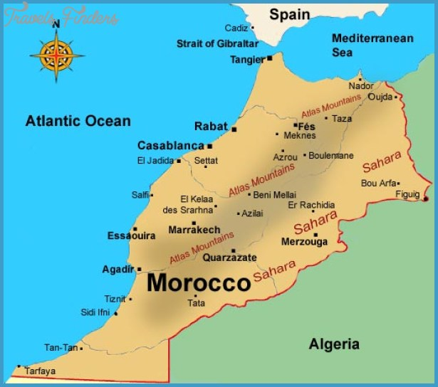 Morocco Map Travel Map Vacations TravelsFinders