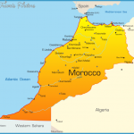 Morocco Map with cities - blank outline map of Morocco-