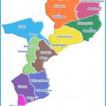 Mozambique Political Map - mozambique • mappery