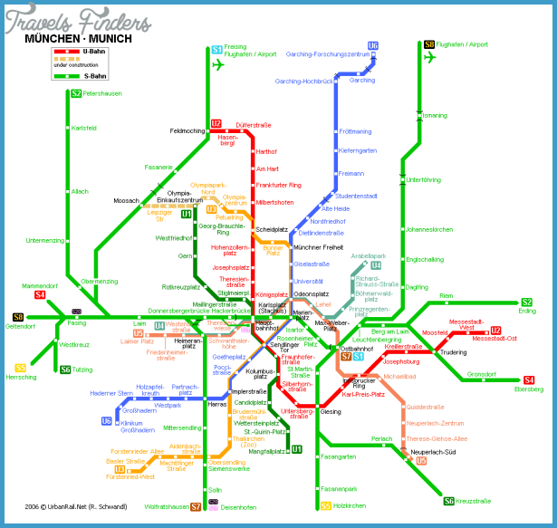 Munich Subway Map.Munich Subway Map Travelsfinders Com