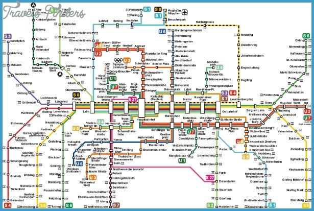 Munich Metro Map TravelsFindersCom