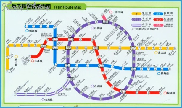 Nagoya Subway Map TravelsFindersCom