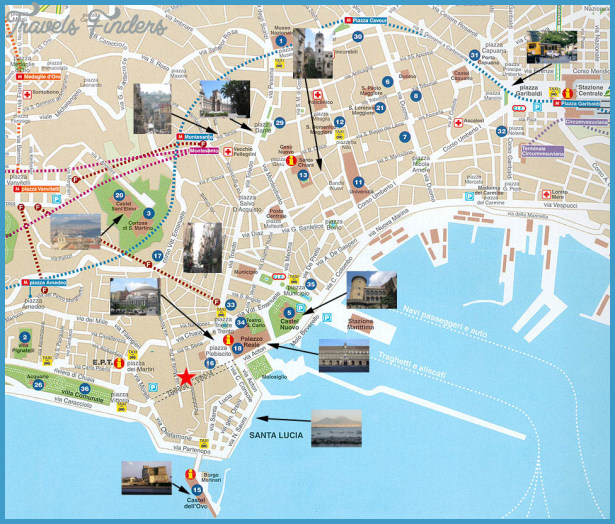Naples Map Tourist Attractions – Italy Tourist Attractions Map