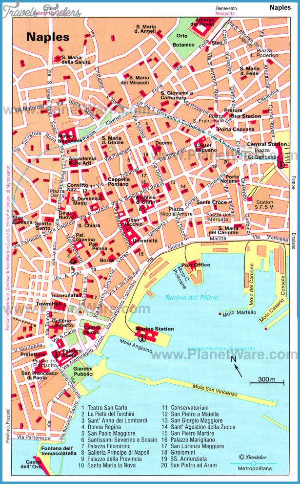 Naples Map Tourist Attractions TravelsFindersCom