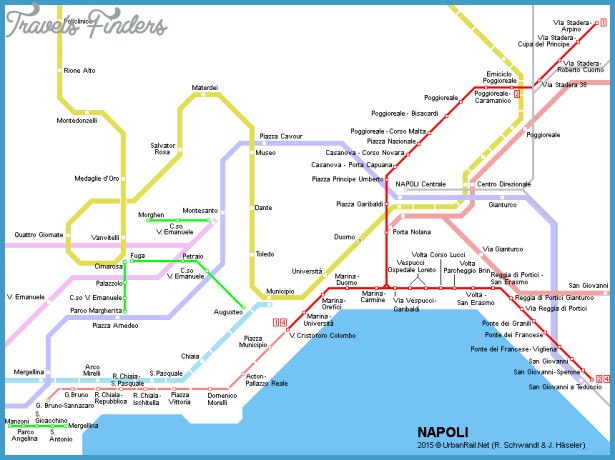 Napoli Subway Map.Naples Metro Map Travelsfinders Com